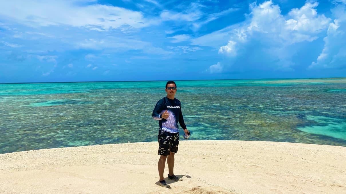 沖縄・久米島【はての浜】が言葉にならないくらい最高だった